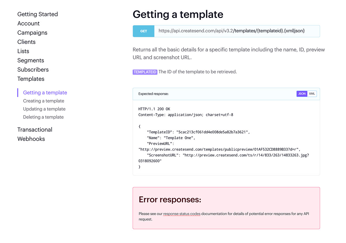 Campaign Monitor API Documentation