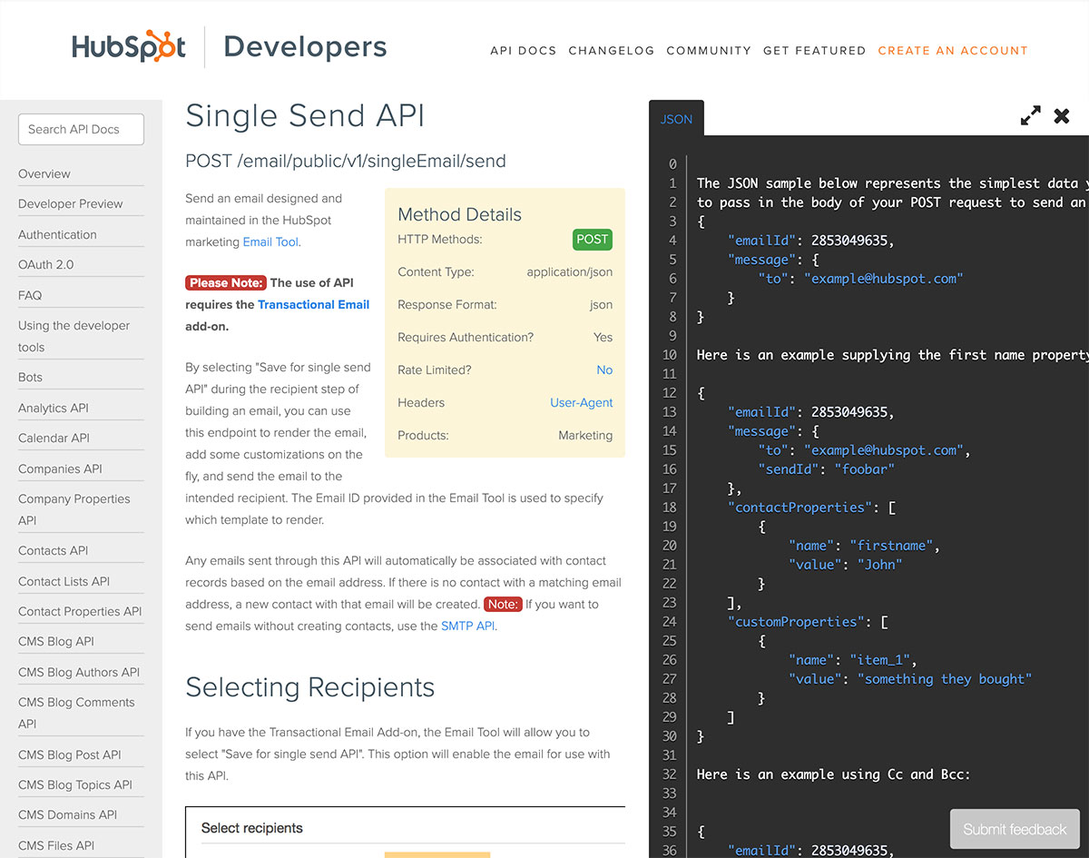 Hubspot API Documentation
