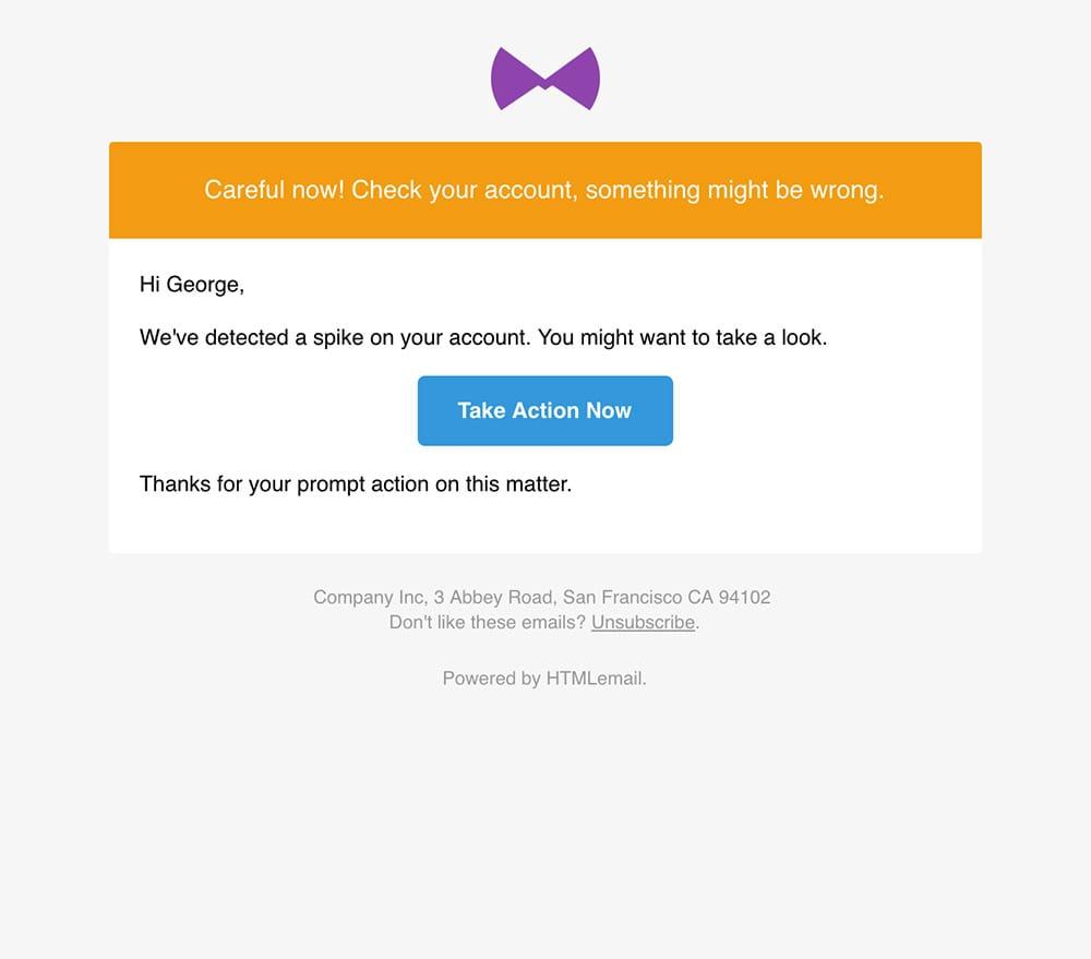 Responsive Warning Alert Email Template