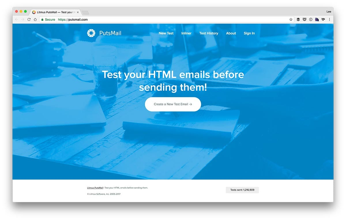 Putsmail HTML Email Tester