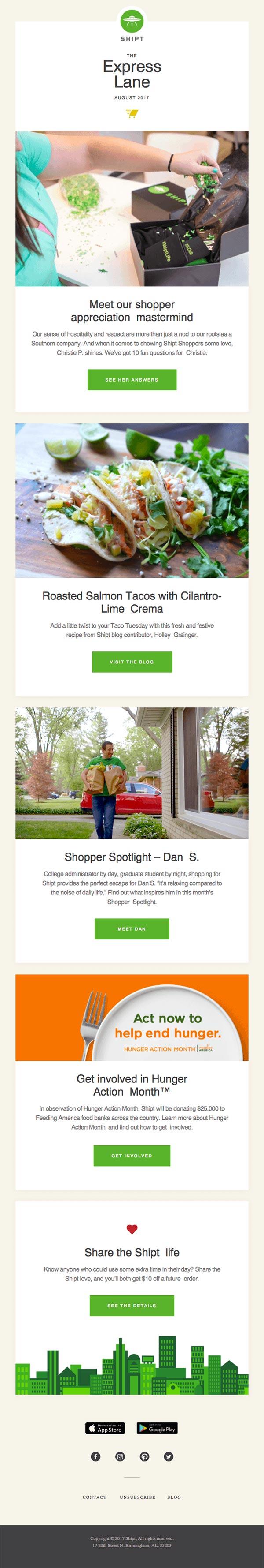 Shipt newsletter